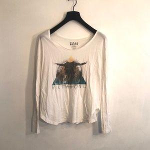 [Billabong] White Drop Shoulder Shirt - Size Small